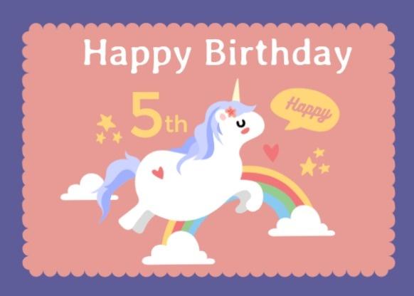 粉色可爱宝宝5岁生日宴