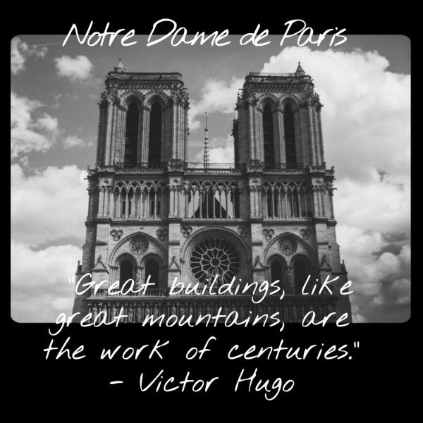 黑色简约法国巴黎圣母院