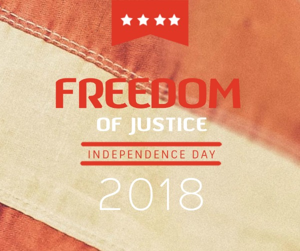 橙色独立日庆祝海报