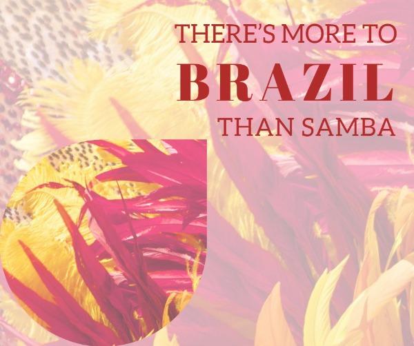 红色巴西旅游主题海报