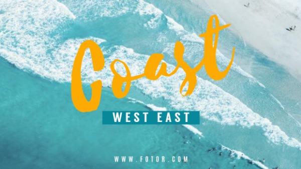 蓝色海岸主题封面