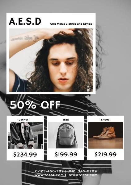 Men Clothes Sale Simple Catalog