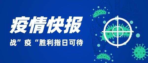 防疫病毒武汉肺炎插画简洁蓝色简约