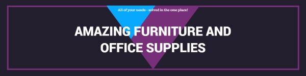 紫色简约家居用品商店封面图