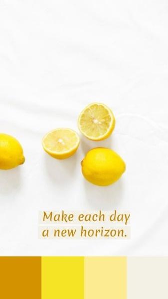小清新元气柠檬水果