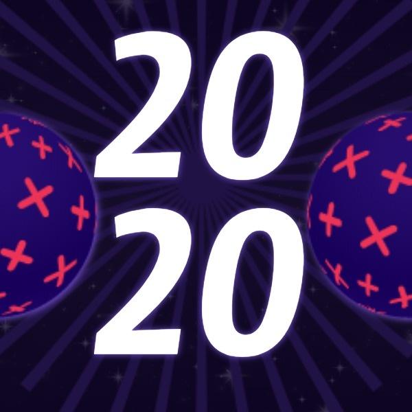 紫色創意2020元旦跨年夜