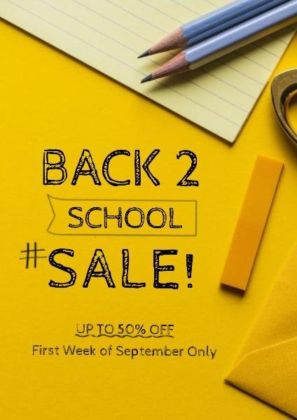 Yellow Back To School Sale