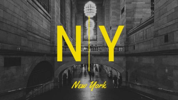 褐色纽约主题封面