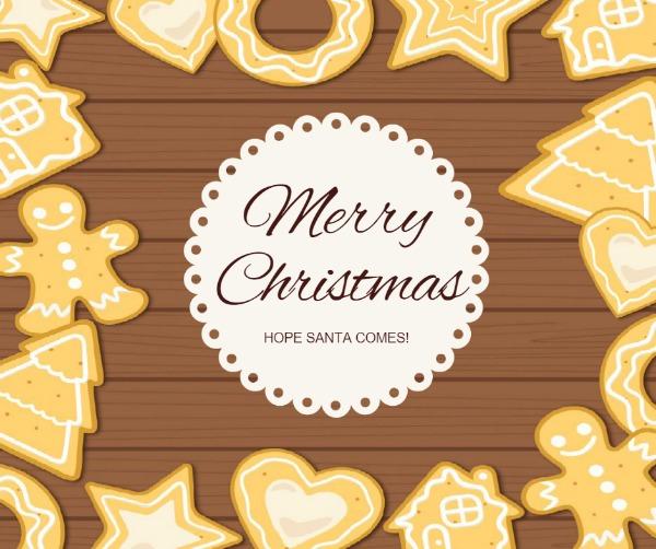 褐色卡通圣诞节贺卡