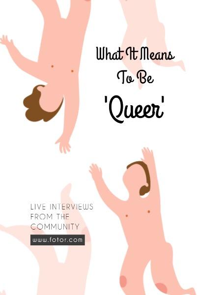 白色卡通女王主题海报