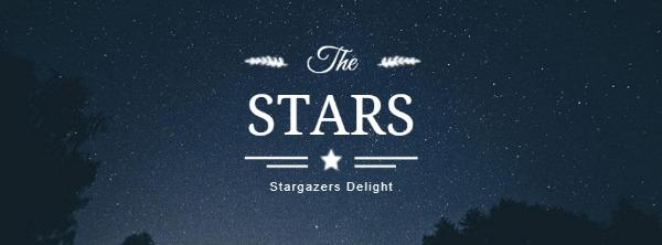 藍色星空主題封面