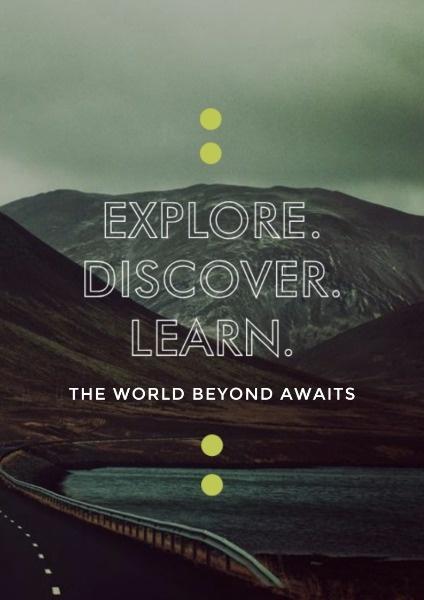背包旅行旅游探索深色简约