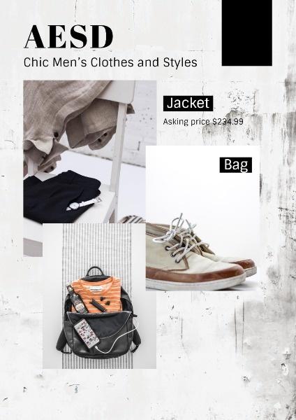 Men Clothes Fashion Sale Catelogue