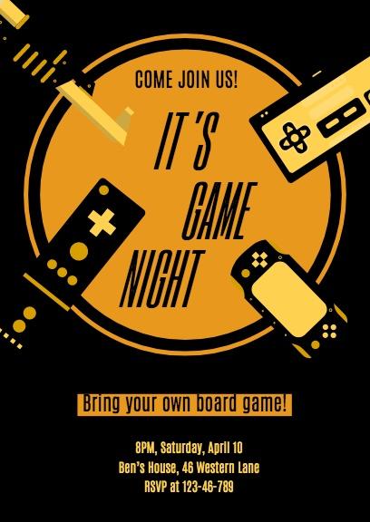 Black & Gold Game Night