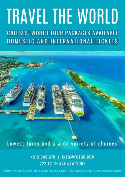 世界旅行海报