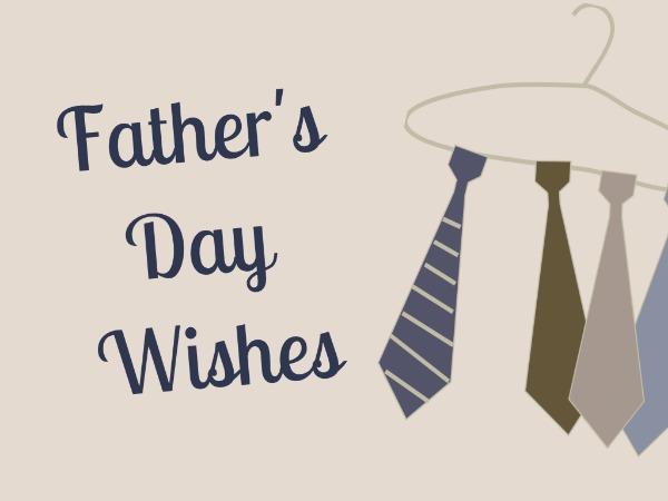 父亲节快乐感恩祝福温情灰白色卡通