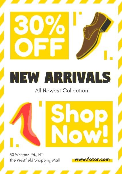 皮鞋促销英文海报