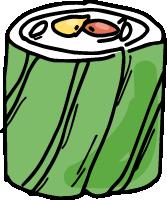 寿司饭团日料虾肉菜卷