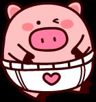 卡通猪宝宝猪猪年棕色粉色