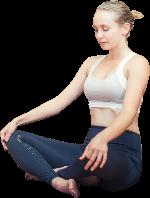 瑜伽运动冥想健身女人