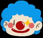 小丑人人物微笑眨眼