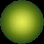 圆绿色渐变电商元素