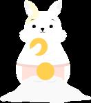 月兔中秋兔子做月饼中秋节