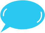 气泡对话框蓝色气泡框
