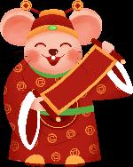 老鼠鼠年鼠财神财神爷