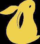兔子动物装饰装饰元素手绘
