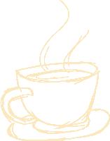咖啡咖啡杯杯子碟子素描