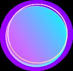 渐变色圆形圆形蓝紫渐变紫色渐变