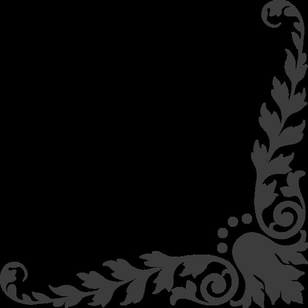 花纹花边黑白装饰图腾
