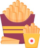 薯条零食油炸食品食物美食