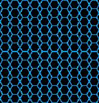 六边形蓝色背景位图照片