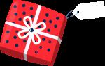 礼品礼盒包装礼物礼品包装(波点右吊牌)