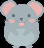 动物老鼠生态卡通可爱