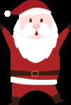 圣诞老人人人像人物举手