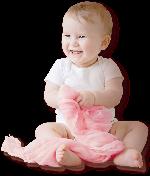 宝宝婴儿粉色白色幼儿