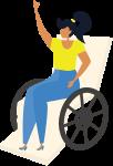 残疾人人物女性女生身体残疾