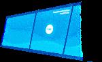 屏幕蓝背景位图照片