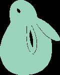 动物兔子中秋节可爱绿色