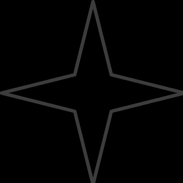 星星四角形四角星框边框