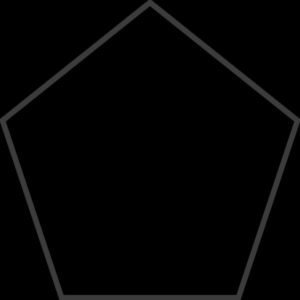 五角星五角形框边框几何