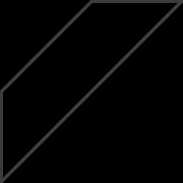 梯形等腰梯形框边框图标