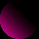 圆玫红色渐变电商元素