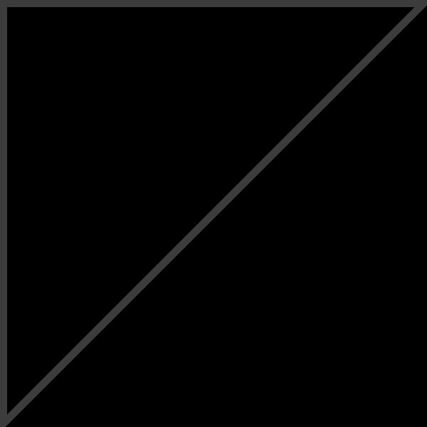 三角形等腰直角梯形框边框角