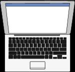 电脑笔记本笔记本电脑电子产品卡通