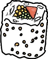 寿司饭团日料描边美食