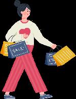 购物的女孩人物女性逛街购物